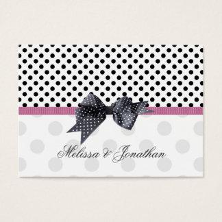 Black, white polkadot Thank you Wedding/Gift Tag Business Card