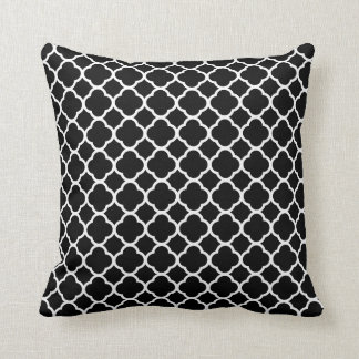 Black & White Polyester Throw Pillow
