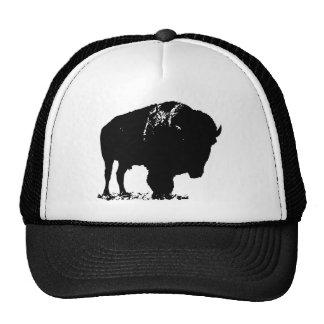 Black & White Pop Art Bison Buffalo Cap