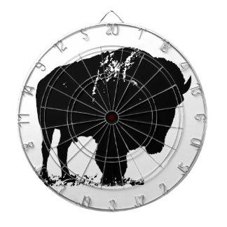 Black & White Pop Art Bison Buffalo Dartboard