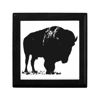 Black & White Pop Art Bison Buffalo Gift Box