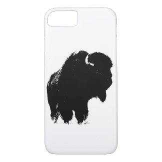Black & White Pop Art Bison Buffalo iPhone 8/7 Case