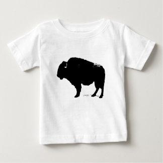 Black & White Pop Art Buffalo Bison Baby T-Shirt