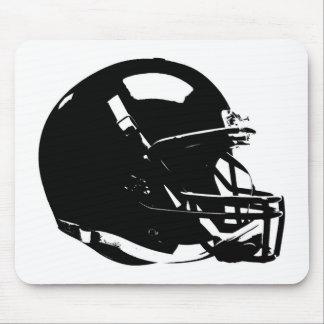 Black White Pop Art Football Helmet Mouse Pad
