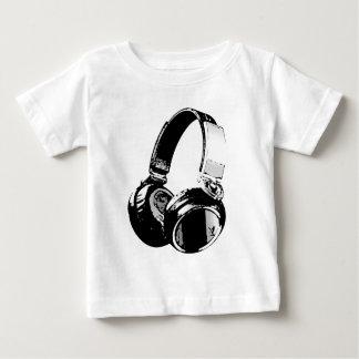Black & White Pop Art Headphone Shirt