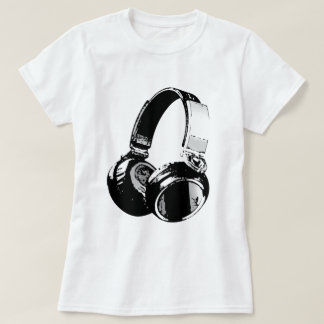 Black & White Pop Art Headphone Shirts