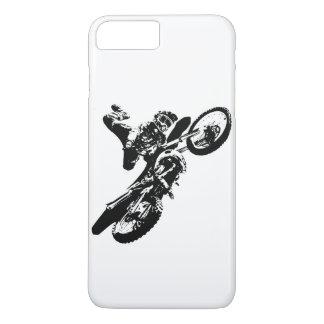 Black White Pop Art Motocross Motorcyle Sport iPhone 8 Plus/7 Plus Case