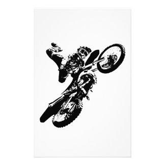 Black White Pop Art Motocross Motorcyle Sport Stationery