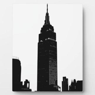 Black & White Pop Art New York Display Plaques