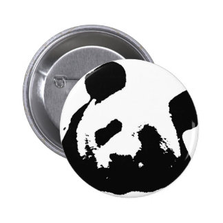 Black White Pop Art Panda 6 Cm Round Badge