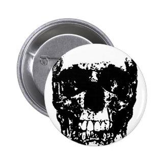 Black & White Pop Art Skull 6 Cm Round Badge