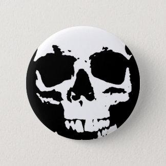 Black & White Pop Art Skull Stylish Cool 6 Cm Round Badge