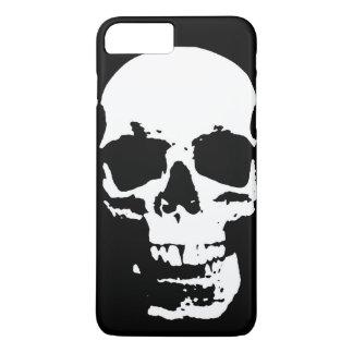 Black & White Pop Art Skull Stylish Cool iPhone 7 Plus Case