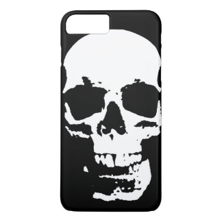 Black & White Pop Art Skull Stylish Cool iPhone 8 Plus/7 Plus Case