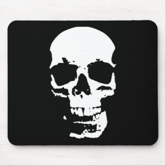 Black & White Pop Art Skull Stylish Cool Mouse Pad