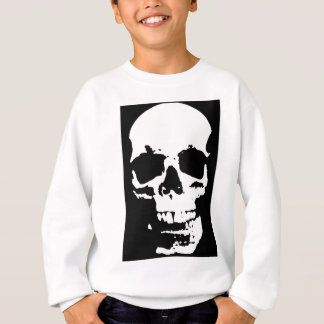 Black & White Pop Art Skull Stylish Cool Sweatshirt