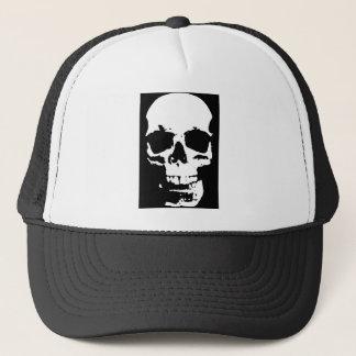 Black & White Pop Art Skull Stylish Cool Trucker Hat