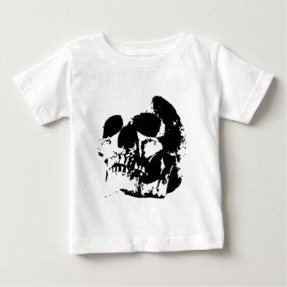 Black & White Pop Art Skull T Shirt