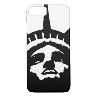 Black White Pop Art Statue Liberty iPhone 7 Case
