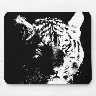Black & White Pop Art Tiger Mouse Pad