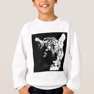 Black & White Pop Art Tiger Sweatshirt