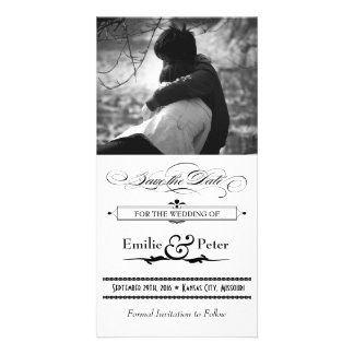 Black & White Poster Style Save the Date Picture Card