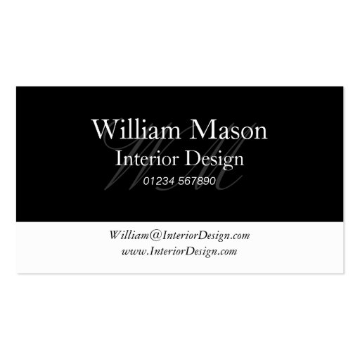 Black & White Professional Business Card