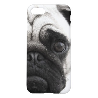 Black & White Pug Face iPhone 7 Case
