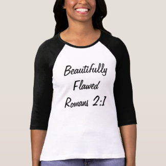 Black & White Quarter Length Women's T-Shirt