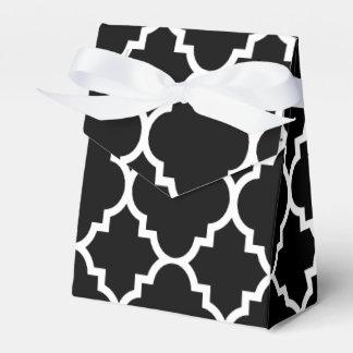 Black White Quatrefoil Moroccan Pattern Favour Box