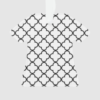 Black White Quatrefoil Pattern, Your Monogram