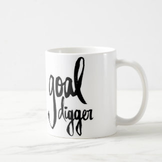 Black White Quote Mug Brushstroke Goal Digger Boss