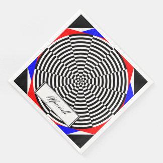 Black & White Radiation by Kenneth Yoncich Paper Napkin