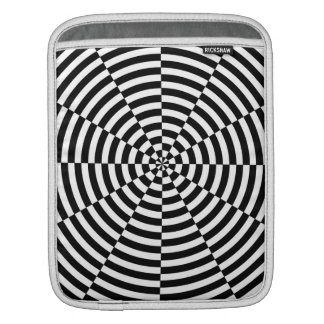 Black & White Radiation by Kenneth Yoncich Sleeve For iPads