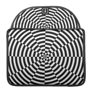 Black & White Radiation by Kenneth Yoncich Sleeve For MacBook Pro