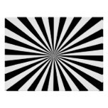 Black & White Rays Print