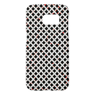 Black White Red Abstract Pattern Chic