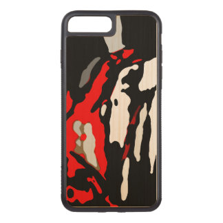 Black White Red Abstract Pattern Chic Carved iPhone 7 Plus Case
