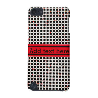 Black White Red Abstract Pattern Chic iPod Touch (5th Generation) Case