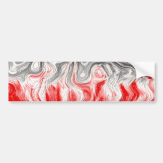 BLACK WHITE RED FLAMES CONFUSION EMO EMOTIONS ABST BUMPER STICKERS