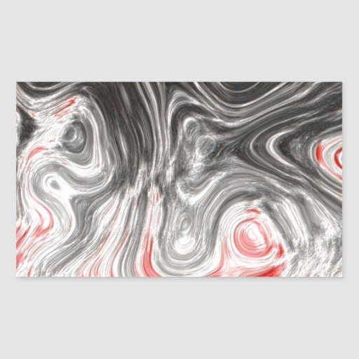 BLACK WHITE RED FLAMES CONFUSION EMO EMOTIONS ABST RECTANGLE STICKER