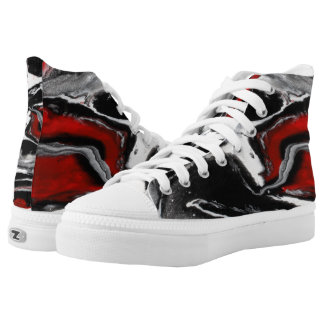 "Black, White, & Red High Tops - ""Be Bold"""