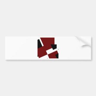 Black,white & Red Squares Bumper Sticker