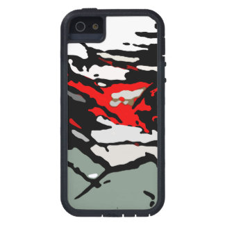 Black White Red Turquoise Pattern iPhone 5 Cover