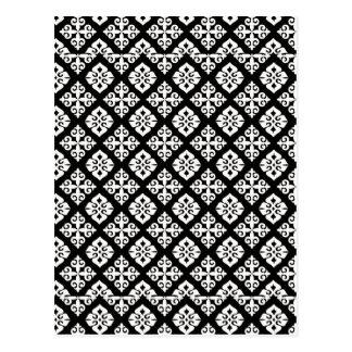Black & White Regal Pattern Postcard