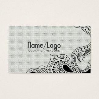 Black & White Retro Flower Design-Template