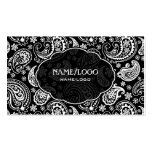 Black & White Retro Paisley Pattern 3 Design