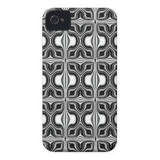 black white retro pattern iPhone 4 case