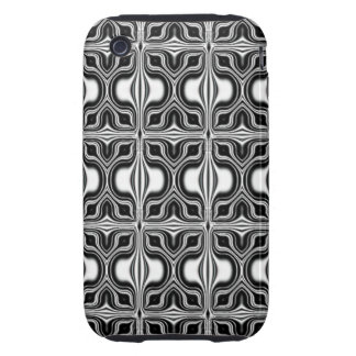 black white retro pattern iPhone 3 tough covers
