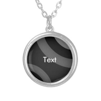 Black&White Retro Pattern Silver Plated Necklace